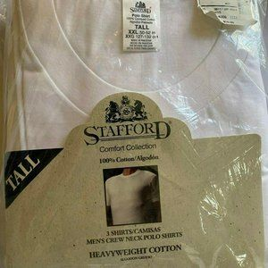Lot of 3 Stafford Crew Neck Polo Shirts Tee XXL
